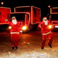 Рождественский караван кока кола